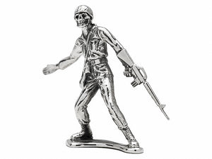 Skull Face 'Follow Me' M16 Silver Army Man