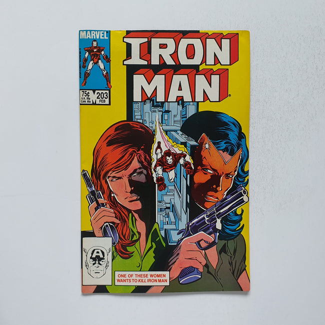 The Invincible Iron Man 203 Marvel DC Comic Book