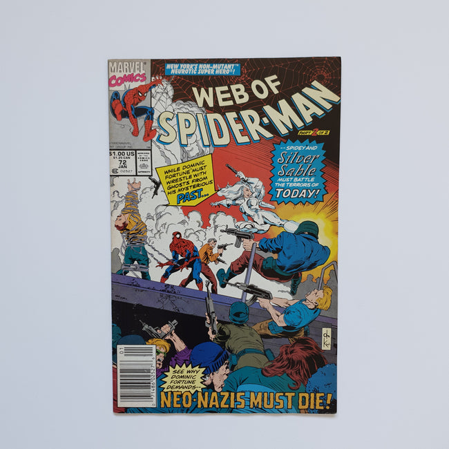 Web Of Spider-Man 72 Marvel DC Comic Book
