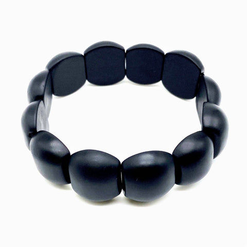 Onyx Braided Black Bangle Jewelry Bracelets for Women | Birthday Gift set