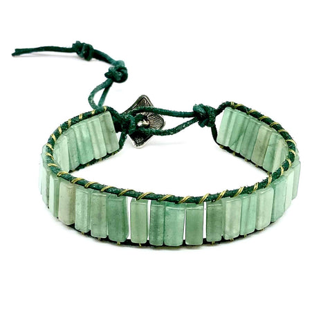 Jade Braided Green Bead Bangle Jewelry Bracelets for Women | Birthday Gift set
