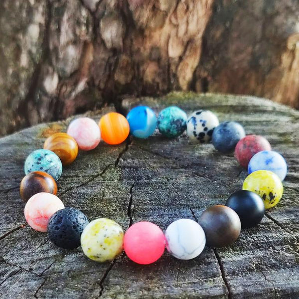 Colorful Buddhist Bead Bracelet