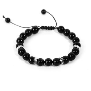 Black Agate Gemstone Bracelets