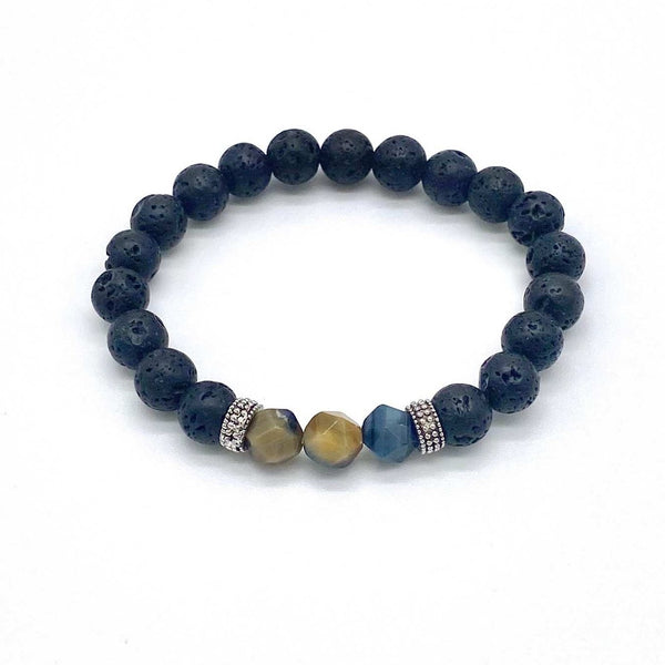 Buddhist Lava Stone Beaded Bracelets for Women