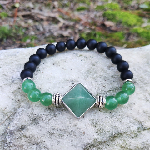 Tibetan Green Evil Eye Pyramid Luxury Bracelets for Men | Birthday Gift Set