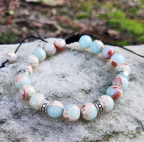 Multi Color Healing Stone Bracelet