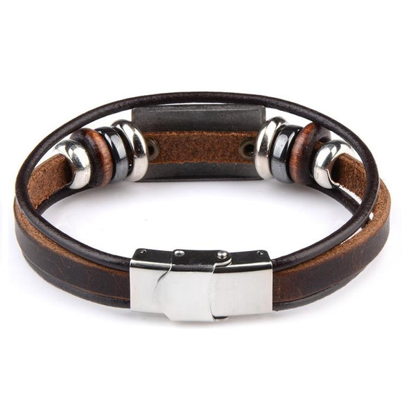 Leather Bracelet Pisces Back