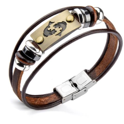 Leather Bracelet for Pisces Men