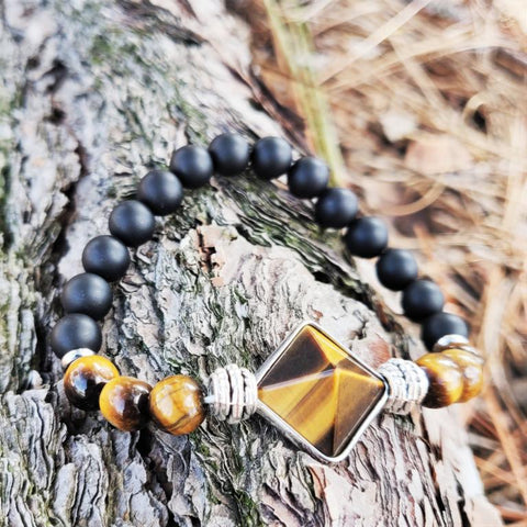 Tiger Eye Buddhist Bracelet