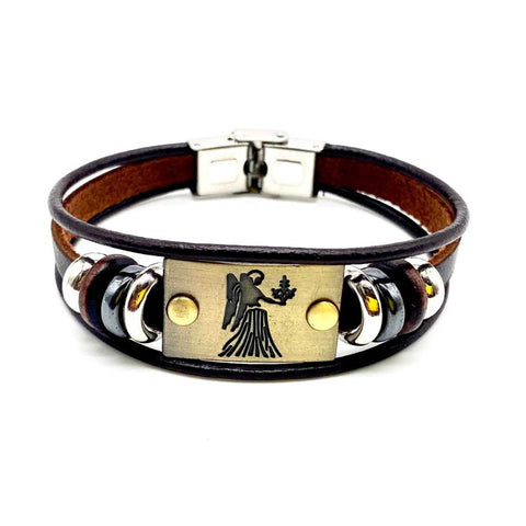 Virgo Leather Bracelet