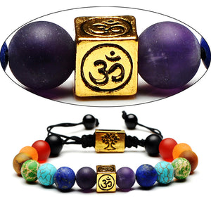 Om Kundalini Chakra Bracelet for Healing Anxiety/ Protection