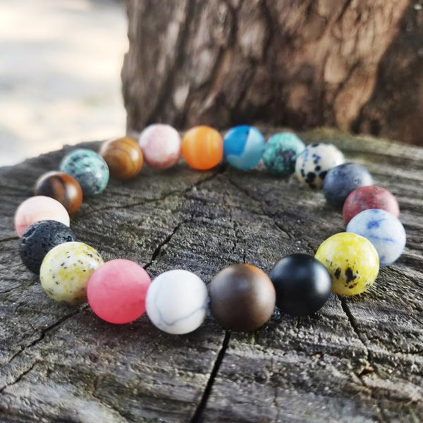 Solar System colorful Bead Bracelet