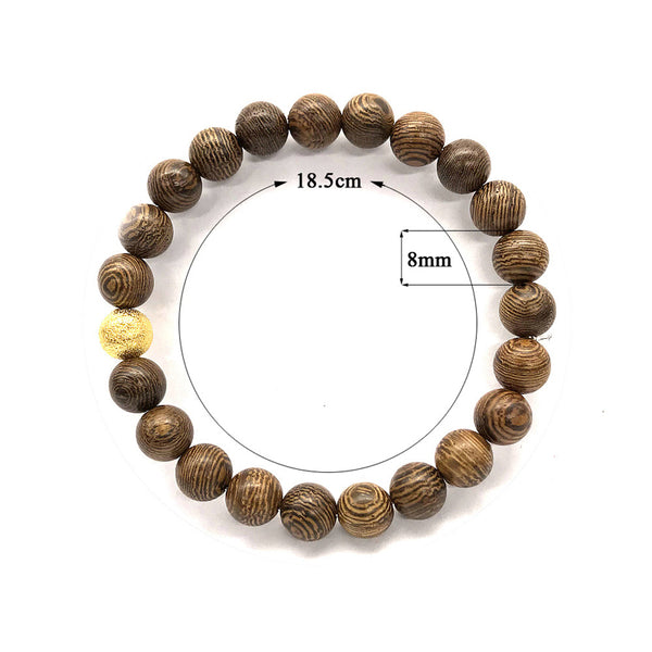 Light Dark Wood Ladies Bracelet
