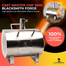 Load image into Gallery viewer, CMF 1000 Single Burner Propane Forge for Blacksmith Jewelry