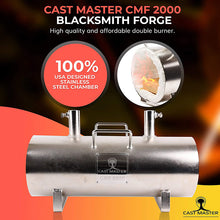 Load image into Gallery viewer, CMF 2000 Double Burner Propane Forge for Blacksmith Jewelry