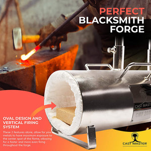 CMF 2000 Double Burner Propane Forge for Blacksmith Jewelry