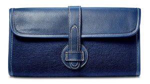 Adrian Clutch - Wool Blend - Navy