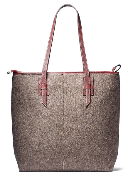 Aline-grey felt/burgundy