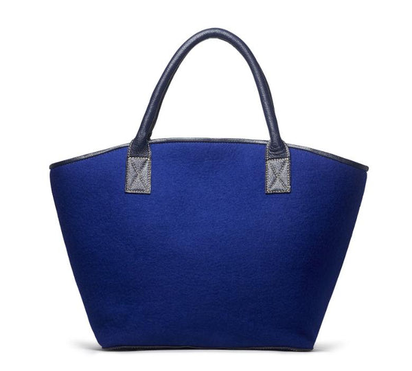 Ana Tote - Royal Blue Felt