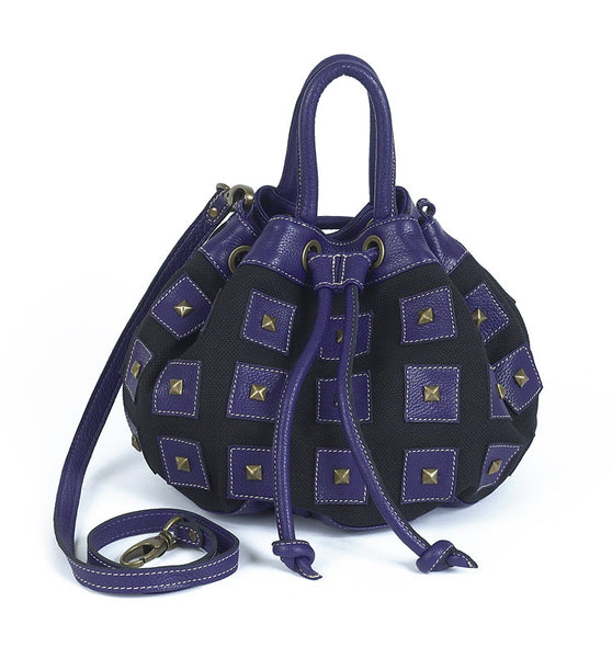 Carla Bucket Bag- purple