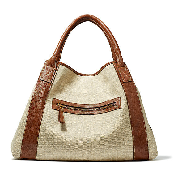 Brown Leather Michelle Tote