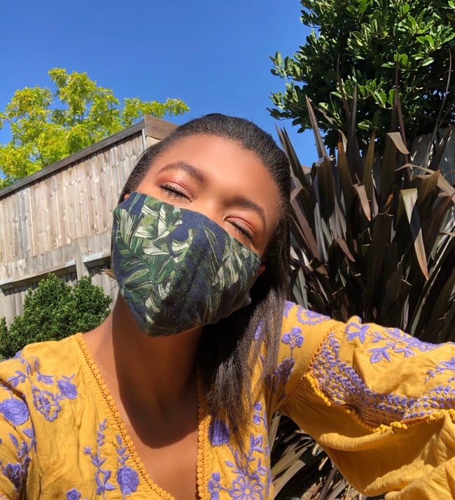 Jungle Print Face Mask