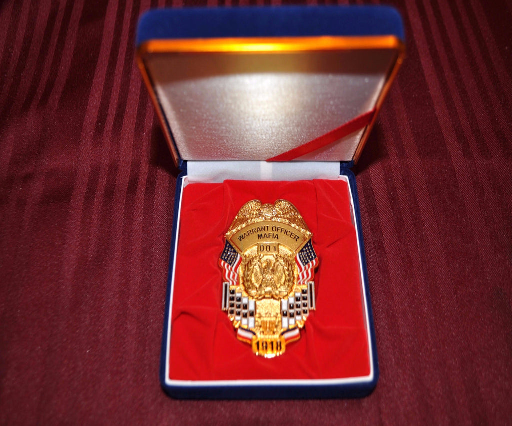 WARRANT OFFICER MAFIA BADGE WITH CASE