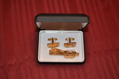 WARRANT OFFICER CUFFLINKS WITH NECKTIE CLAMP