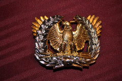 SILVER AND GOLD PLATED WARRANT OFFICER BELT BUCKLE