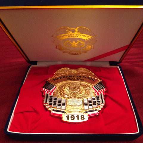 Warrant Officer Mafia Belt Buckle: Belt Not Included