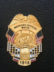 LAPEL PIN - WARRANT OFFICER MAFIA BADGE