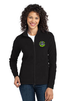 Ladies Microfleece Jacket with Hamilton left chest embroidery