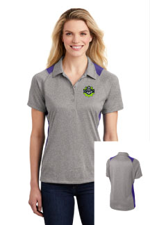 Ladies Heather Colorblock Contender™ Polo