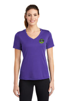 Embroidered - Ladies V Neck - 100% polyester