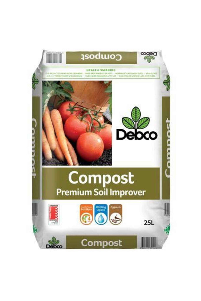 a bag of Debco Garden Compost