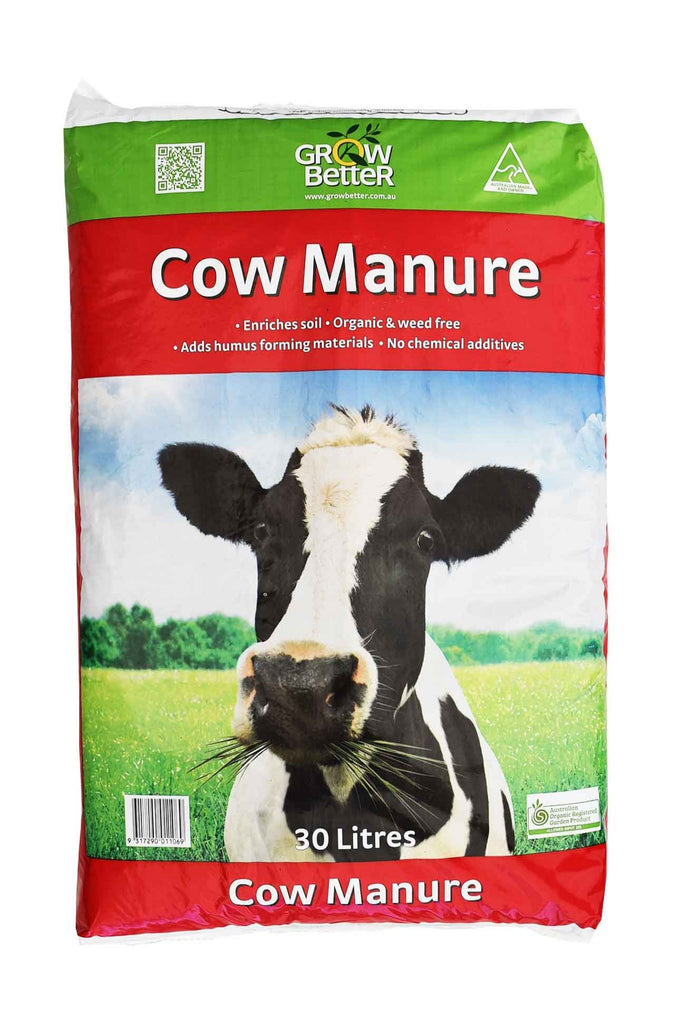 A Bag Of Grow Better Cow Manure 30 Litres