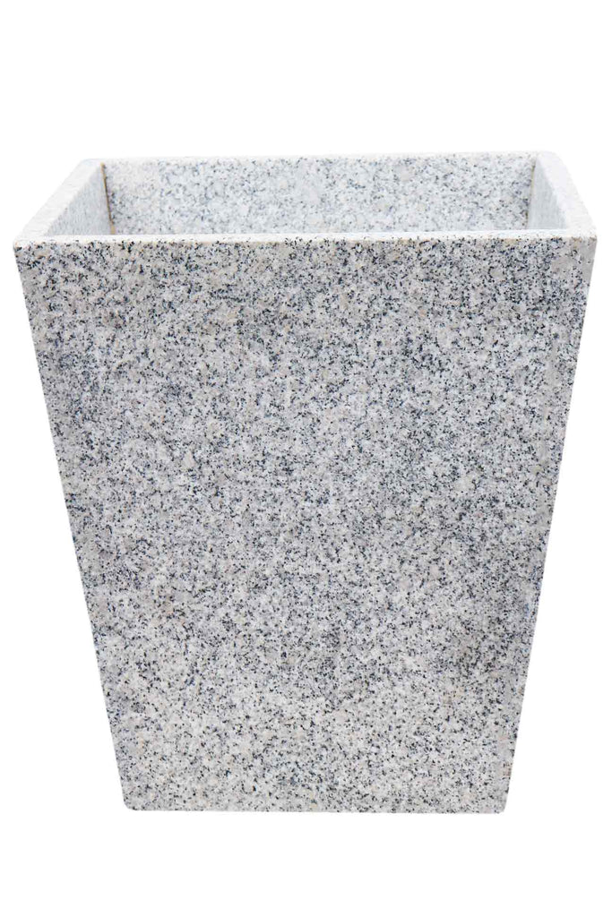 Granite extra-large white taper planter pots