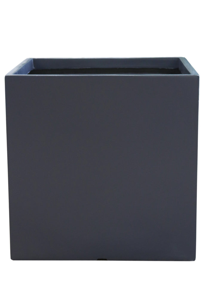 Manhattan Charcoal Cube planter pot