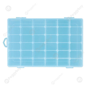 Adjustable 36 Compartment Plastic Storage Box Jewelry Earring Case£¨Blue£©