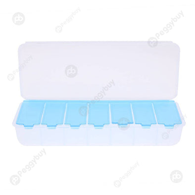 Large 7 Compartment Holder Convenient Jewelry Contact Lens Storage Box