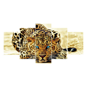 95*45CM Multi-picture Diamond Painting-5pcs-Leopard