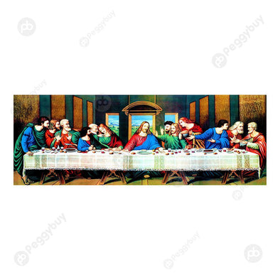 80*30CM Round Drill Diamond Painting-The Last Supper