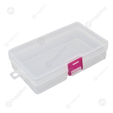 Small Transparent Plastic Storage Box Jewelry Parts Functional Boxes (Red