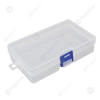 Small Transparent Plastic Storage Box Jewelry Parts Functional Boxes (Blue
