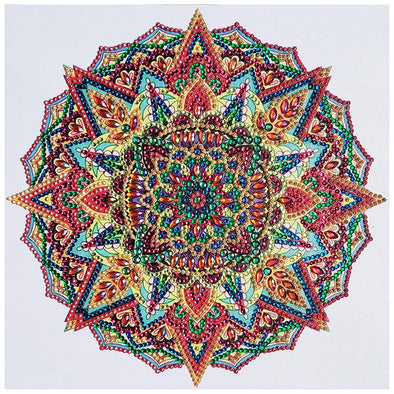 30*30CM Special Shaped Diamond Painting-Mandala