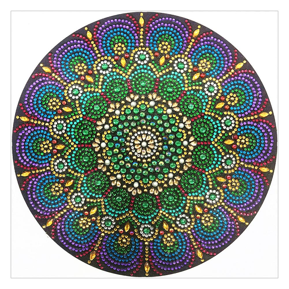 30*30CM Special Shaped Diamond Painting-Mandala, Datura-r8351, 501 Original