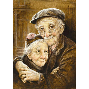 30*40CM Round Drill Diamond Painting-Older Couples