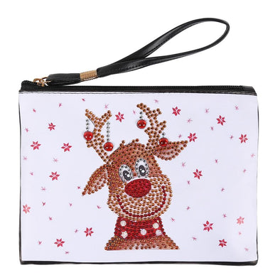 Deer-DIY Creative Diamond Wristlet Bag