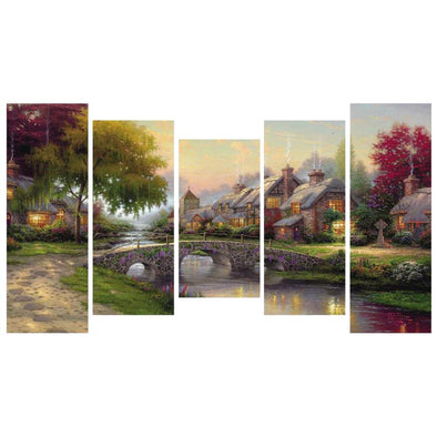95*45CM Multi-picture Diamond Painting-5pcs Home