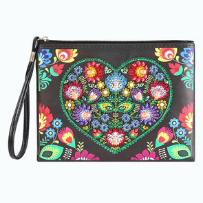 Love Flower-DIY Creative Diamond Wristlet Bag
